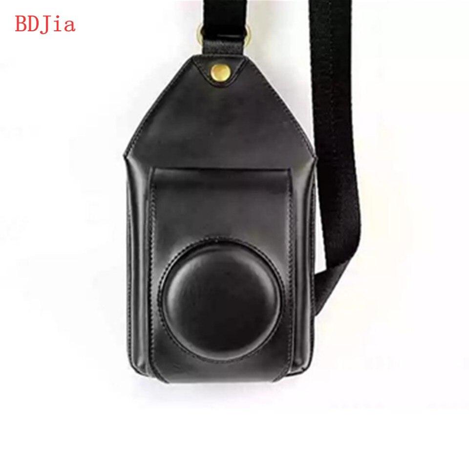 New PU Leather Oil Skin Camera Case Bag Cover for Casio EXILIM ZR5500 ZR5000 ZR3700 ZR3600 ZR3500 ZR2000 ZR1600 Camera + Phone