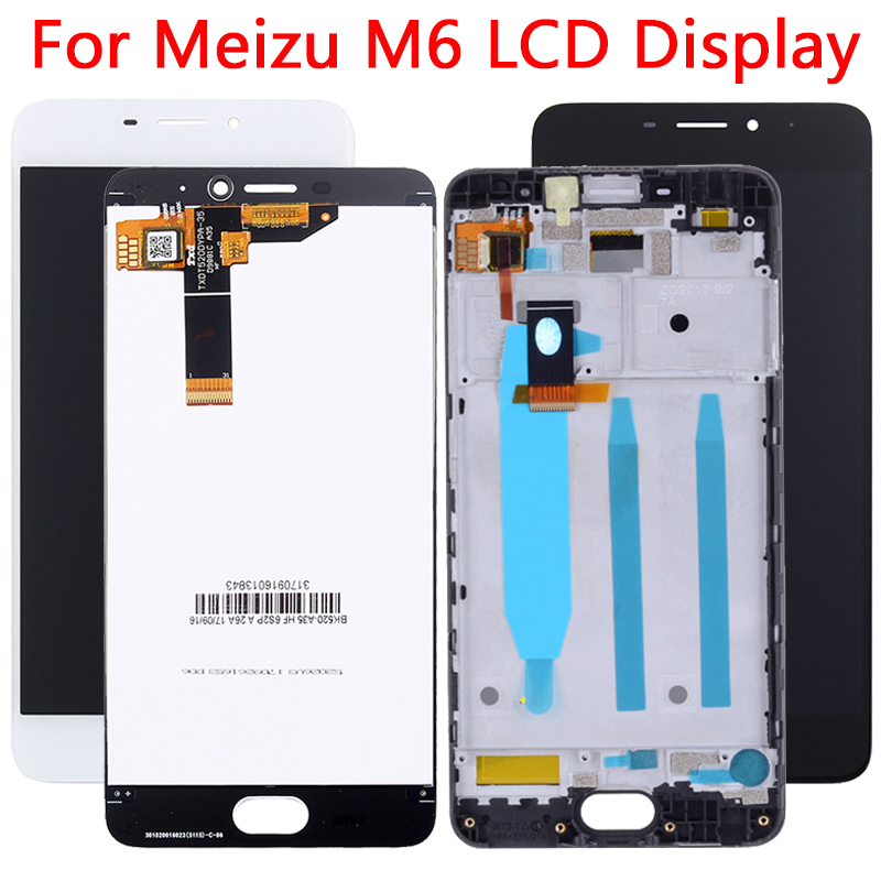 Original 5.2'' <font><b>M6</b></font> <font><b>LCD</b></font> For <font><b>Meizu</b></font> <font><b>M6</b></font> <font><b>LCD</b></font> Display Touch Screen With Frame Replacement Digitizer Assembly For Meilan <font><b>M6</b></font> M711H <font><b>LCD</b></font> image
