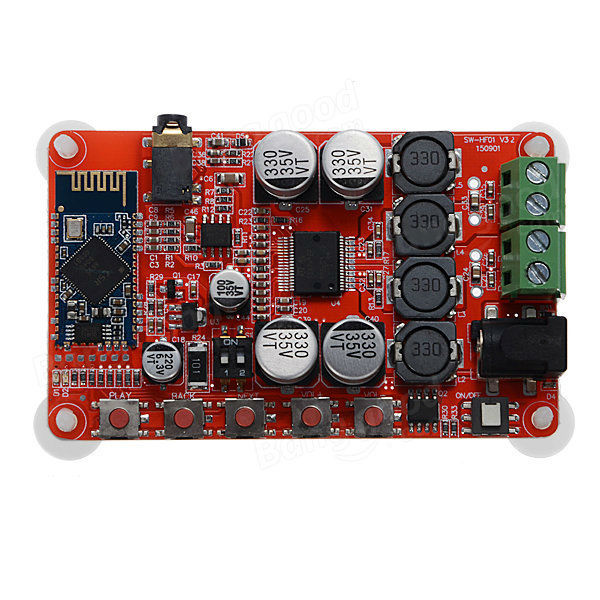 25W+25W TDA7492P Bluetooth CSR4.0 Audio Receiver Digital Amplifier Board Free Shipping