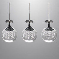 Pendant Lights 3 Light Modern Crystal Wineglass Wine Glass Light Pendant Lamp Ceiling Hanging EMS FREE