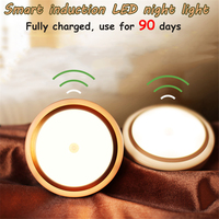 2017 New Sensor LED Night Light Portable USB Rechargeable Children Night Lamp 3M Distance Bedroom Light