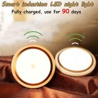 2017 New Sensor LED Night Light Portable USB Rechargeable Children Night Lamp 3M Distance Bedroom Light