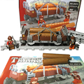 Kits de edificio modelo compatible con lego trenes urbanos rieles 021 bloques 3D aficiones modelo Educativo y juguetes de construcción para los niños