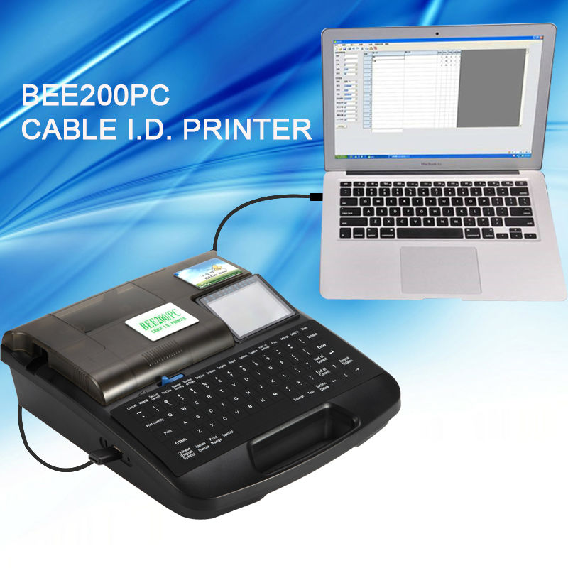 Cable ID printer electronic lettering machine tube printer BEE200 PC