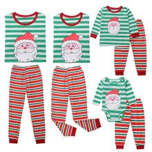 971ce715d9 Family Matching Outfits Set Christmas Family Pajamas Set Adult Kid  Sleepwear Nightwear Xmas Striped Pjs Photgraphy Prop Clothing