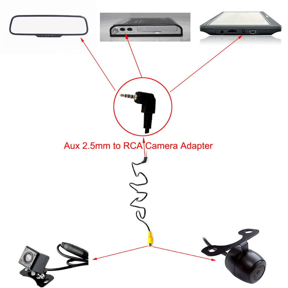 hight resolution of rca to aux 2 5mm av in adapter cable for car rear view parking 3 5mm jack wiring diagram aux to rca wiring diagram