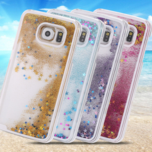 Fashion Dynamic Liquid Sand Quicksand Hourglass Case Crystal Clear Back Cover For Samsung Galaxy S7 G9300 Free Shipping