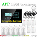 Wireless Home Burglar Security GSM Alarm System 433MHz Touch Keyboard Compatible English/ Russian/Spanish/ French/Italian Menu