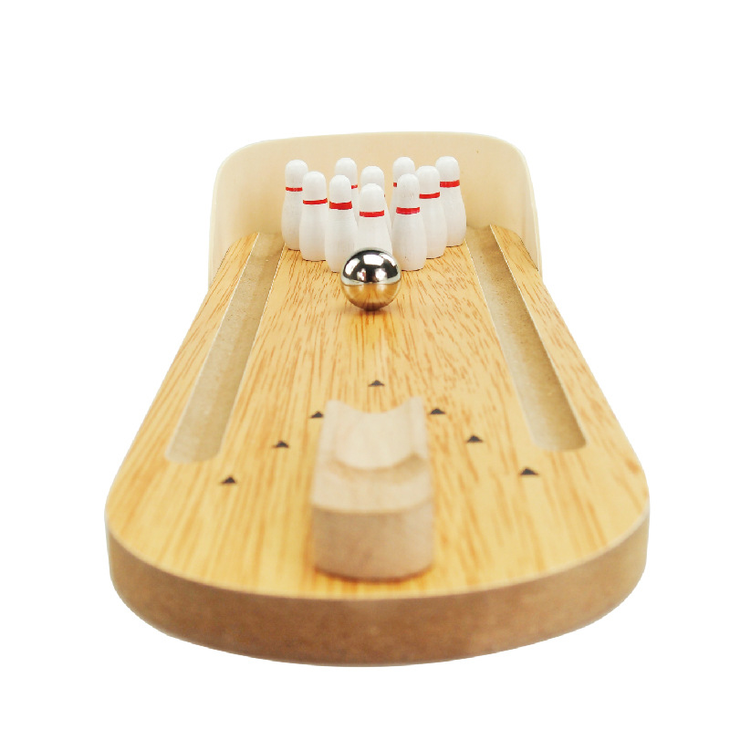 1piece Clic Miniature Bowling Alley Wooden Mini Set Desktop Office Board Table Decoration In Party Diy Decorations From Home Garden