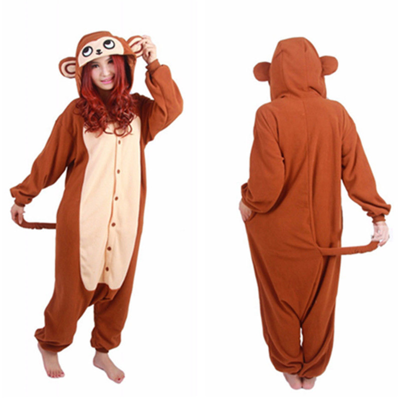 Animal Onesie Adult Kid Pajamas Unicorn Brown Monkey Cosplay Costumes Pyjamas Halloween  Cosplay