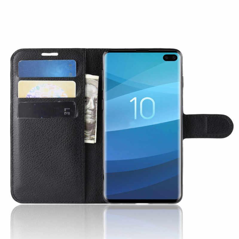 Противоударный для samsung Galaxy S10 5G чехол Флип Бумажник из искусственной кожи тонкие мягкие чехлы для samsung S10 плюс S10e S10 телефон случаях