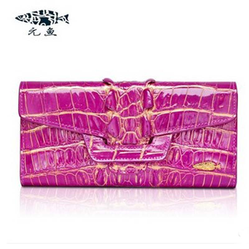 yuanyu New alligator long  female bag real crocodile leather high-end imported large women clutches