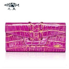 yuanyu New alligator long female bag real crocodile leather high end imported large women clutches