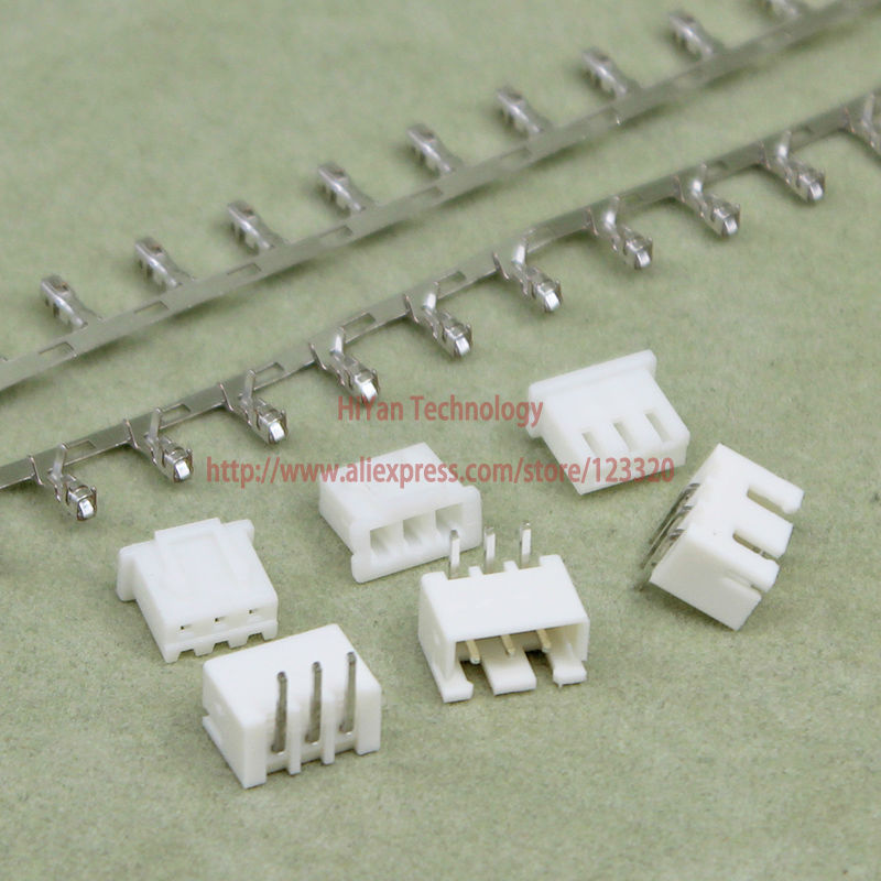 (100sets/lot) Connector XH2.54 3Pin 90degrees Pitch:2.54MM 0.1inch 3AW Pin Header + Terminal + Housing XH2.54-3P