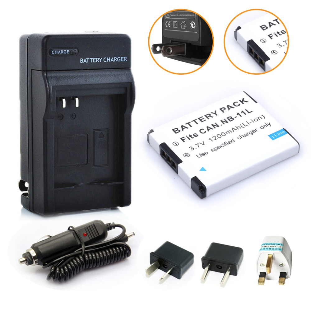 HIBTY NB-11L NB-11LH NB11L Battery + <font><b>Charger</b></font> Kit For <font><b>Canon</b></font> Powershot 130 IS, 115 IS, <font><b>A2500</b></font> ELPH 135, 140 IS, ELPH 150 IS, 340 HS image