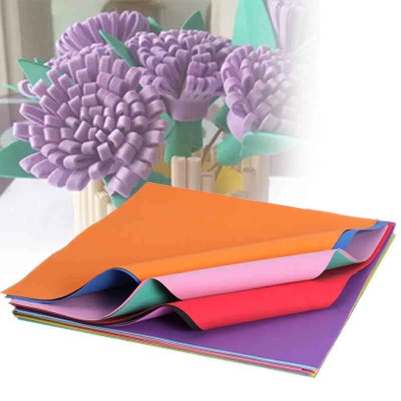 10Pcs/ Pack EVA Foam Sheets Handmade Paper Fun Kids Craft Gift Random Color