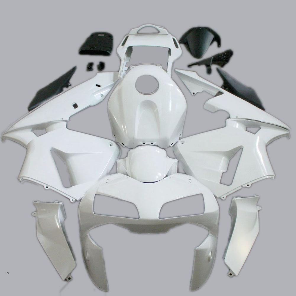 2003 2004 CBR600RR Injection Unpainted White Fairing for Honda Motorcycle Bodywork