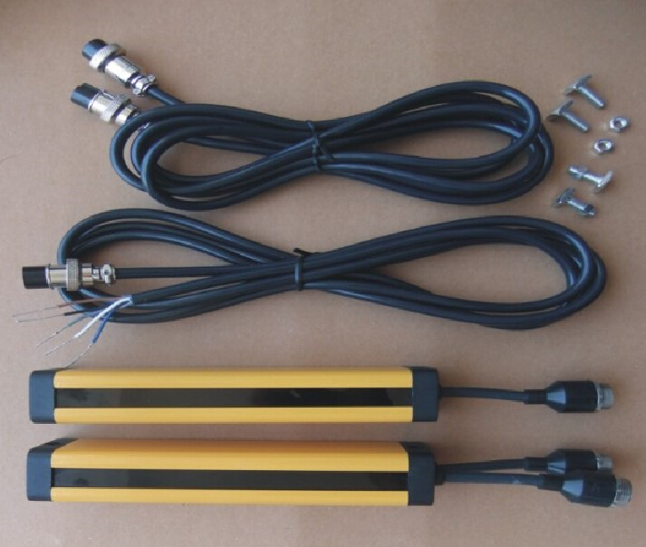 transistor PNP normally closed 4 points 20MM light curtain safety grating hydraulic protection punch sensor photoelectric