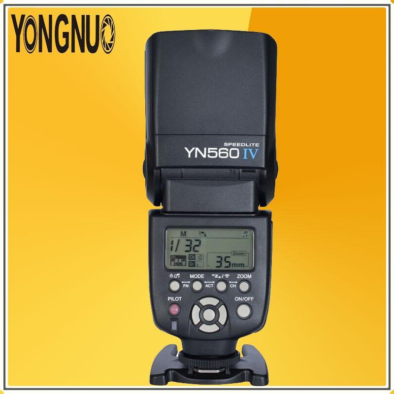 все цены на YONGNUO YN560 IV YN560IV Universal Wirelss Master Slave Flash Speedlite for Canon Nikon Pentax Camera Support 560TX RF605 RF603 онлайн