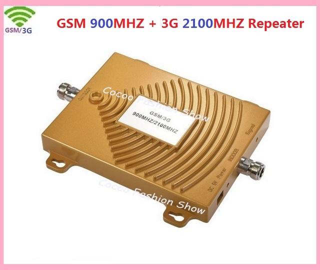GSM 3G Repetidor, Sinal de Reforço Dual Band 65dbi Móvel 3G GSM Impulsionador 900/2100 Amplificador, 3G GSM impulsionador Do Sinal Do Telefone Móvel