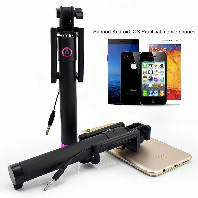 拡張可能selfieスティック一脚iphoneサムスンandroid用iosハンドヘルドカメラ倍ホルダーミニパロselfie三脚 27.5 センチメートル-80 センチメートル