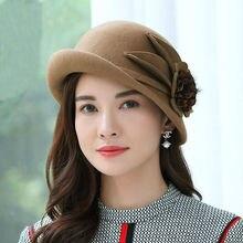 Beckyruiwu Lady Party Formal Hats Special Shade Fedora Hats Women Autumn and Winter Asymmetric Brim Wool Felt Hat