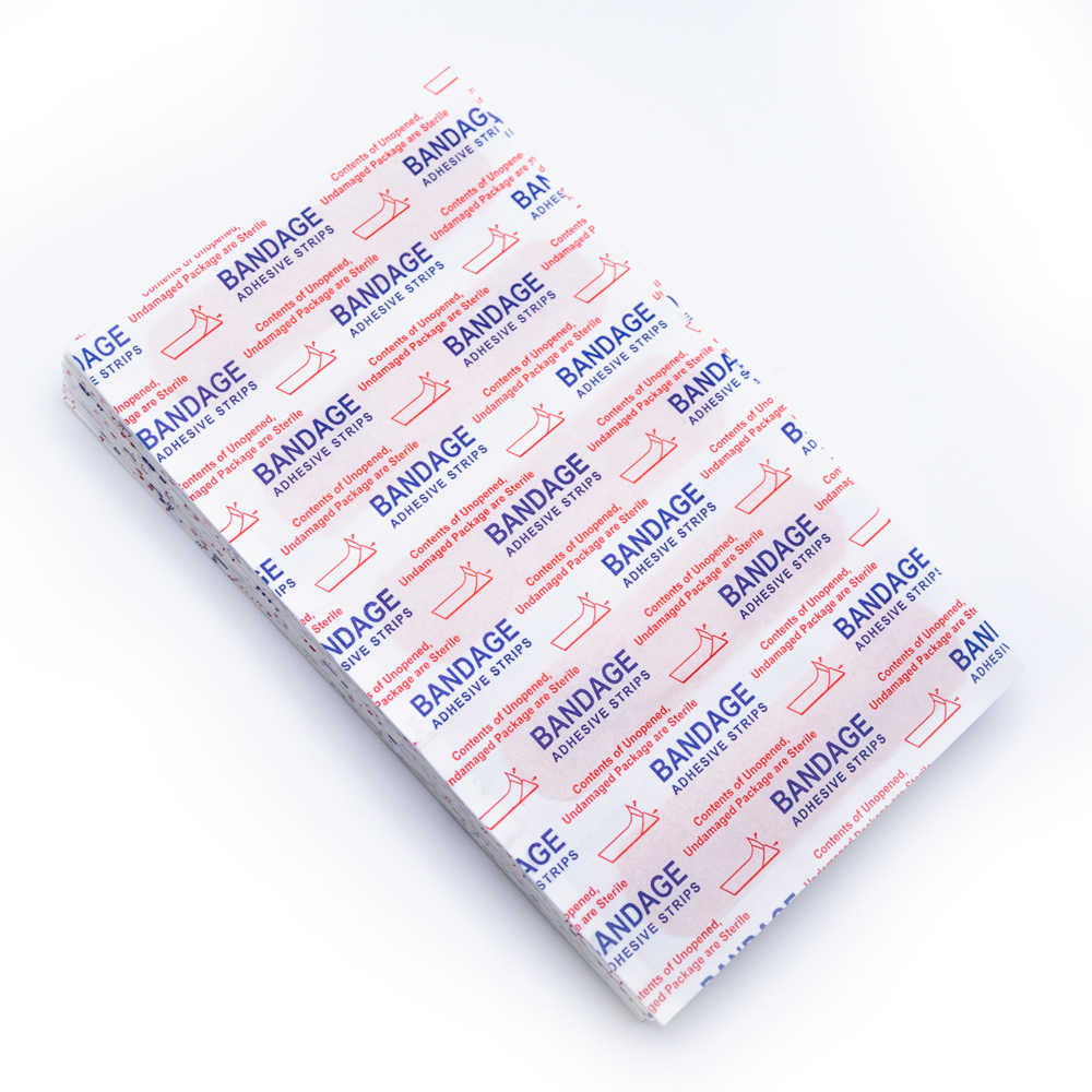 150Pcs Ehbo Bandage Pleister Wondverband Steriele Hemostase Stickers Medische Pleister Strips Gezondheidszorg Z721