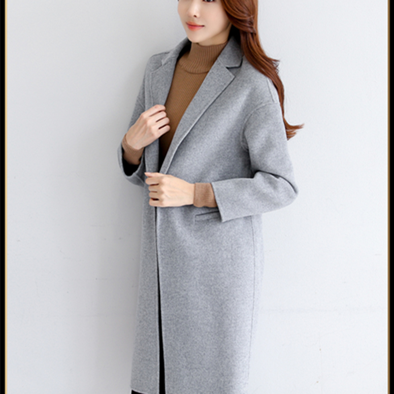 cou Tweed Ouvrir Hiver Blue Manteau Drop De Automne gray Point Mince Femelle Patchwork Zx404 Pardessus V Khaki épaule Deux Mode purplish 2019 Nouveau Femmes manteau qFqw0OI