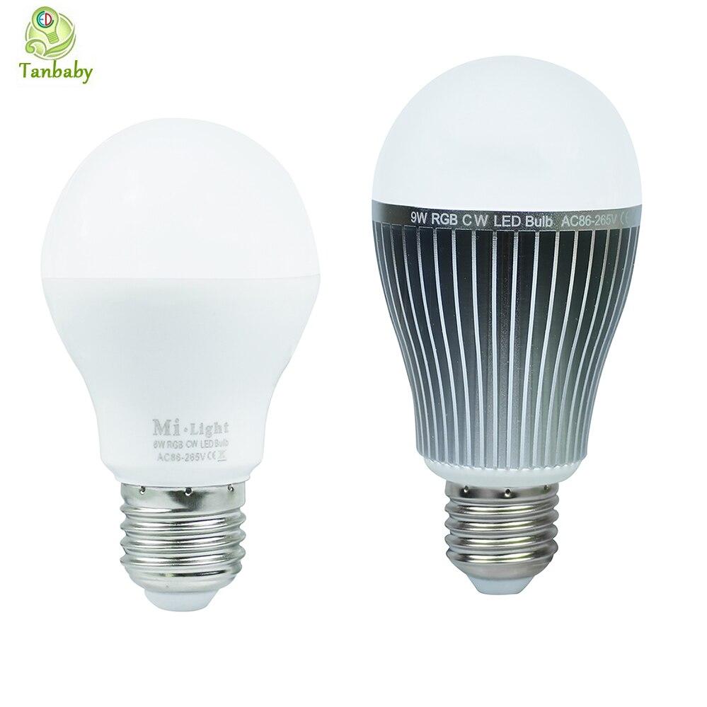 Tanbaby 2 4g Smart Led Bulbs 6w 9w E27 Light Bulb Rgbw Rgbww Ac85 265v Lighting Lamp