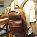 Tidog Crazy Horse Leather Backpack shoulder bag Korean male leisure travel backpack