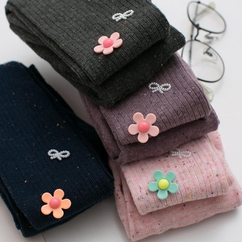 Baby Socks Cotton Toddler Pantyhose Girl Baby Socks Non-Slip Cute Three-Dimensional Flower Spots Warm Baby Girl Princess Socks
