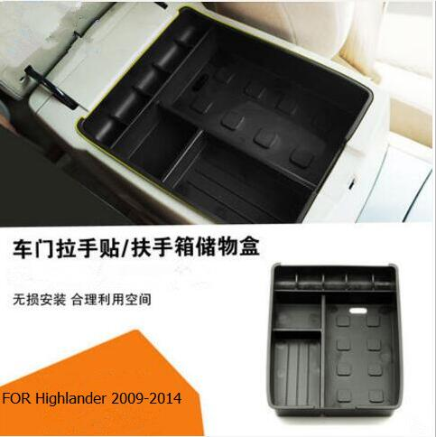 Car-Styling Dedicated Modified Central Armrest Storage Box Glove Tray Pallet phonr holder Case For Toyota RAV4 Highlander CROWN