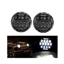 ECAHAYAKU 7 inch 75W LED Headlight Bulbs Driving Lights H4 H13 Hi lo Headlamp 12v for JEEP Wrangler/Land Rover/Hummer/Harley 75w 5d 7 inch round led projector daymaker headlight for jeep wrangler jk land rover defender 90