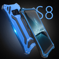 For Samsung Galaxy S8 Case Plus Shockproof Luxury 360 Protective Metal Silicone Armor Phone Covers For