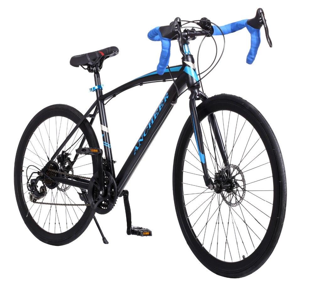 Nueva 700C 21 Spee Ancheer Bike Mujeres Hombres Bicicleta Artes Fijos Bicicleta