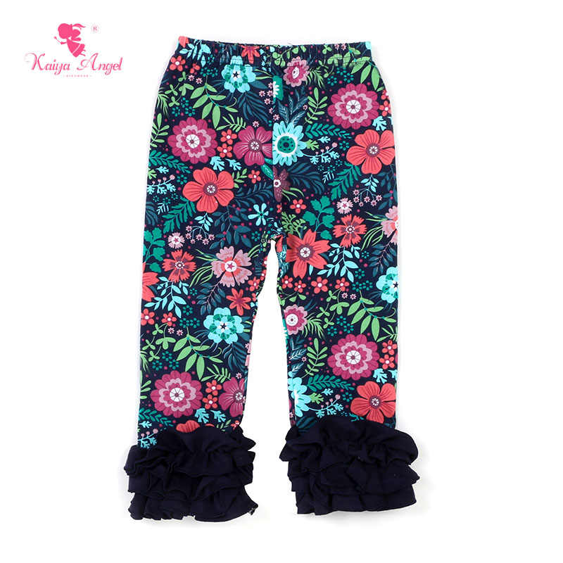 Kaiya Angel Hot filles imprimé Floral Legging enfant en bas âge automne hiver coton Long volants pantalons de glaçage mode enfant en bas âge vêtements pantalons