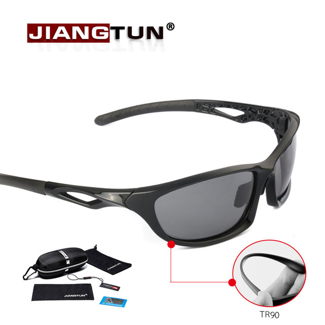 JIANGTUN Flexible Tr90 Polarized Sunglasses Professional Sport Driving Fishing Sun Glasses Men Brand Design High Quality Gift