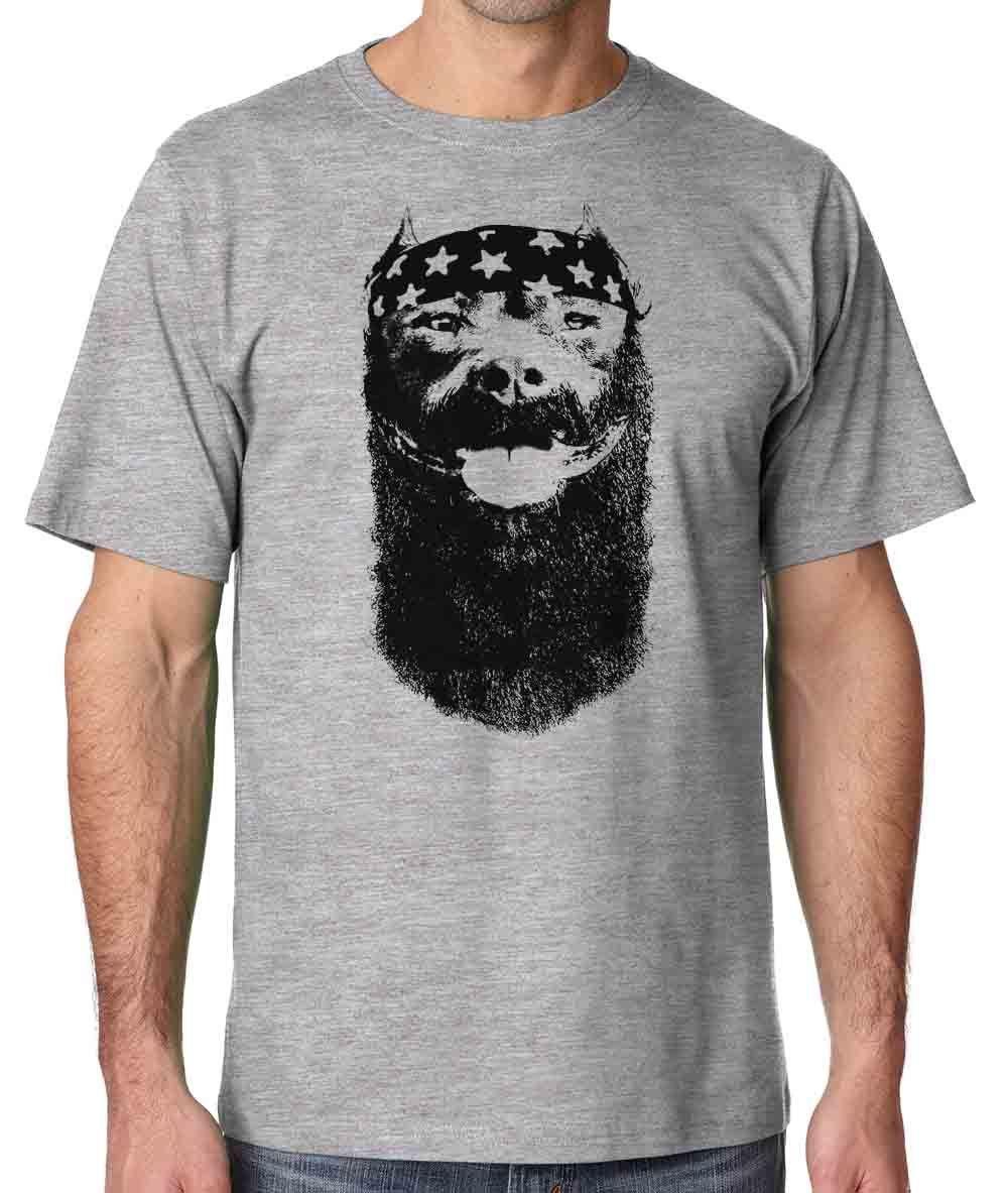 2018 летняя брендовая одежда хулигана династии мужчин тиран экипажа Лидер продаж 100% хлопок футболка питбуль Рубашка мужская футболка