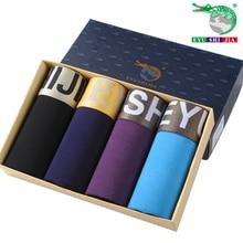 4 pçs/lote Modaier roupa íntima masculina quatro calções de fibra de bambu fino respirável Bermudão instalados 4 cuecas masculinas tamanho 4XL