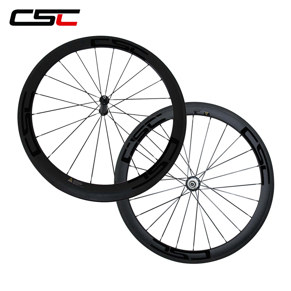 CSC 700C Straight Pull powerway R36 straight pull Hub 25mm wide 50mm deep Tubeless Carbon Road