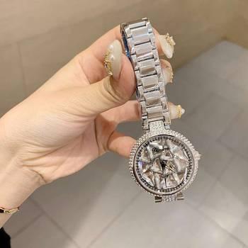 цена на High Quality Designer Brand Luxury Women Watches Quartz Big Stone Crystal Watch Women Waterproof Stainless Steel Wrist Watch