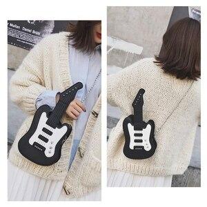 Image 4 - WomenS Piano Music Tote Bag Purse Cute Guitar Shape Crossbody Messenger Shoulder Bags, Guitar