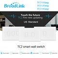 Broadlink tc2 1 gang 2 gang interruptor del tacto de 3 cuadrillas ee. uu. au estándar RF433 Inalámbrica Wifi Domótica Inteligente de Control de Luz de Pared interruptor