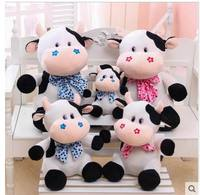 Super lovely 25cm.40cm.50cm cartoon milk cow cattle cute Bow tie plush doll pillow stuffed toy children girl prize gift