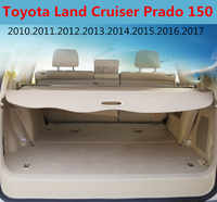 Car Rear Trunk Security Shield Cargo Cover For Toyota Land Cruiser Prado 150 2010-2020 High Qualit Trunk Shade Security Cover
