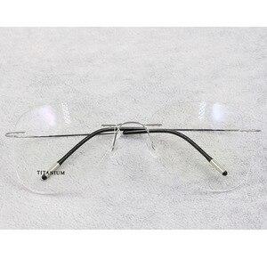 Image 5 - BCLEAR טיטניום ללא שפה אופנה מעצב משקפיים אופטי משקפיים מסגרת גברים ונשים Eyewear קל משקל גמיש מחזה