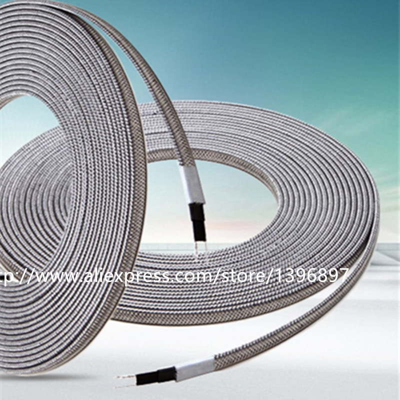 8MM Self Regulating Solar Water Heater Pipe Antifreeze And House Freeze  Protection Heating Cable Frost Protection /Roof /Prow