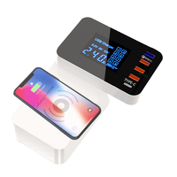 INGMAYA Smart USB Charger Qi Wireless Charging Station Quick Charge 3.0 For iPhone X Samsung S8 Edge Huawei Nexus Mi AC Adapter