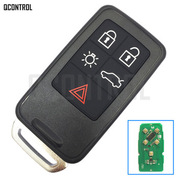 QCONTROL zdalnego klucz inteligentny klucz samochodowy Fob dla Volvo XC60 S60 S60L V40 V60 S80 XC70 434 Mhz