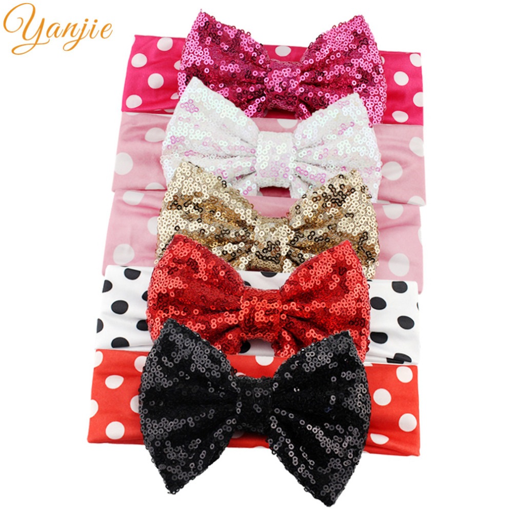 """minnie mouse 5"""" big sequins bow"""